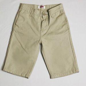 Levi's boys khaki shorts size  14 REG